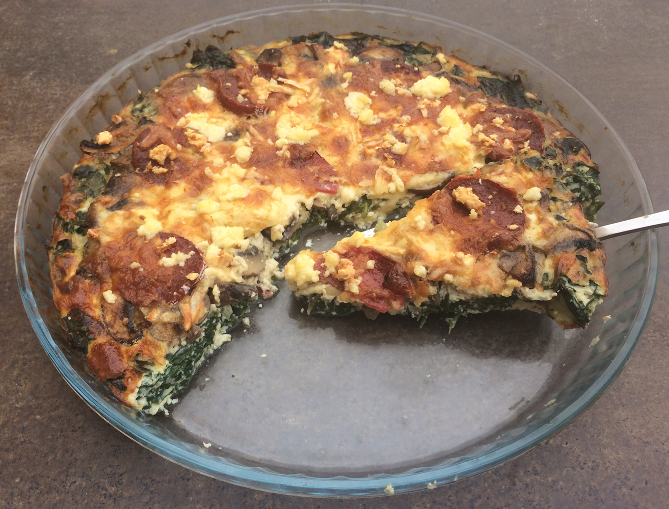 Easy Crust-less Spinach And Feta Pie Recipe — Dishmaps